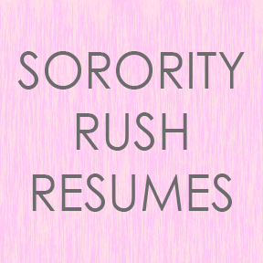 sorority rush resumes
